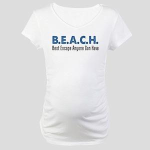 B.E.A.C.H. Best Escape Maternity T-Shirt