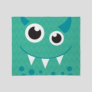 Cute Monster Throw Blanket