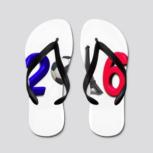 Football France Soccer Sport Flip Flops