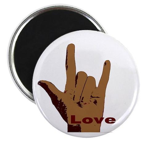 "BrownLove 2.25"" Magnet (10 pack)"