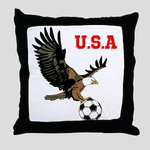 SoccerEagle Throw Pillow
