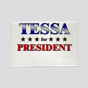 TESSA for president Rectangle Magnet
