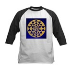s002.sri yantra gold on blue Kids Baseball Jersey