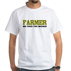 Funny Farmer White T-Shirt