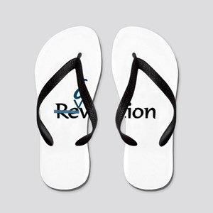 Evolution Not Revolution Flip Flops