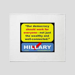 DemocracyForAll Throw Blanket