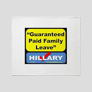 GuaranteedFamilyLeave Throw Blanket