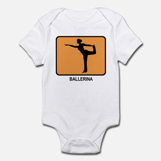 Ballerina (orange) Infant Bodysuit