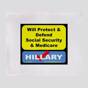 WillProtectSocialSec Throw Blanket