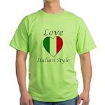 Love Italian Style Green T-Shirt