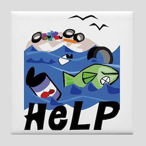 Help Save Environment Tile Coaster