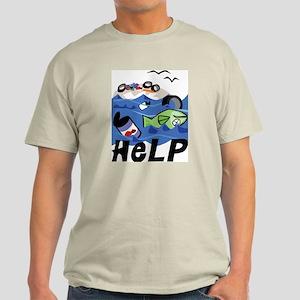 Help Save Environment Ash Grey T-Shirt