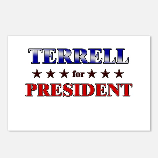 TERRELL for president Postcards (Package of 8)