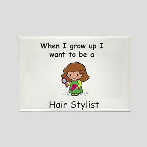 Hair Stylist Rectangle Magnet