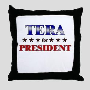 TERA for president Throw Pillow