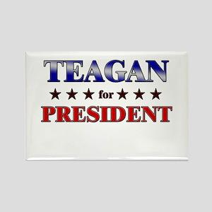 TEAGAN for president Rectangle Magnet