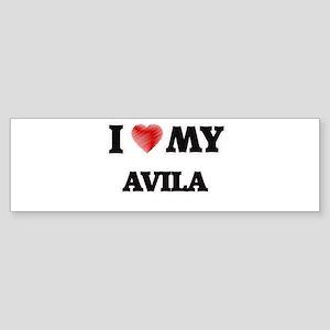 I love my Avila Bumper Sticker