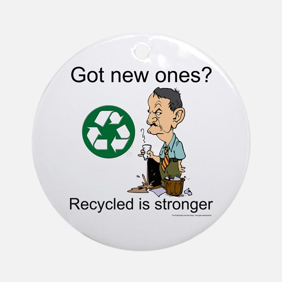 Recycle. Now. Do it Ornament (Round)