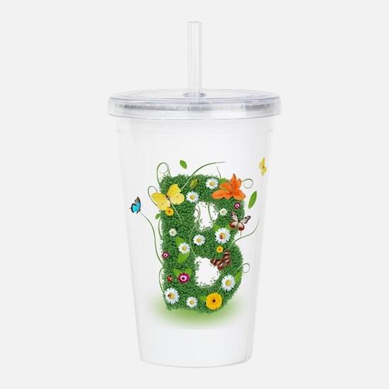 Cute Whimsical daisy Acrylic Double-wall Tumbler