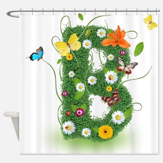 Cute Whimsical daisy Shower Curtain
