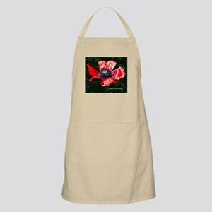 Red Silken Poppy Apron