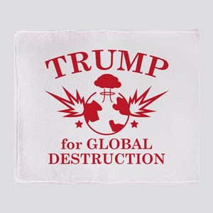 Trump For Global Destruction Stadium Blanket