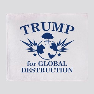 Trump For Global Destruction Stadium Blanket
