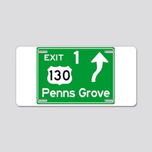 NJTP Logo-free Exit 1 Penns Aluminum License Plate