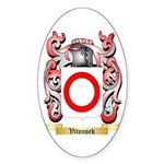 Vitousek Sticker (Oval 50 pk)