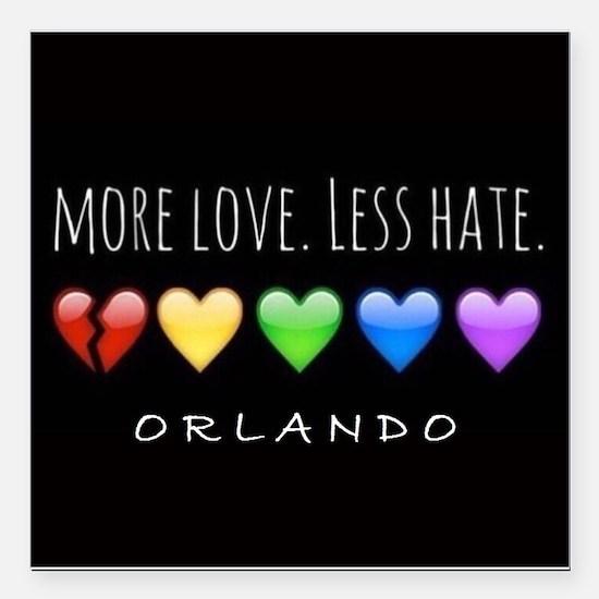 "Orlando Love Square Car Magnet 3"" X 3"""
