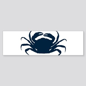 Navy blue simple sea crab illustrat Bumper Sticker