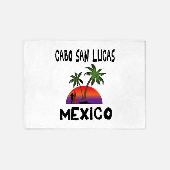 Cabo San Lucas Mexico 5'x7'Area Rug