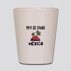 Playa Del Carmen Mexico Shot Glass