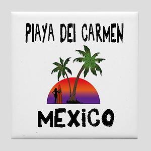 Playa Del Carmen Mexico Tile Coaster
