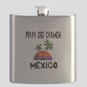 Playa Del Carmen Mexico Flask