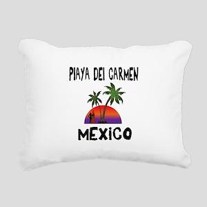 Playa Del Carmen Mexico Rectangular Canvas Pillow