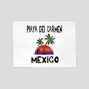 Playa Del Carmen Mexico 5'x7'Area Rug