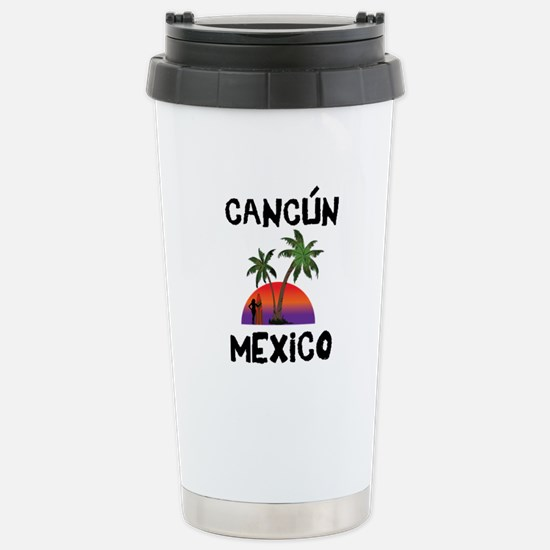 Cancun Mexico Stainless Steel Travel Mug