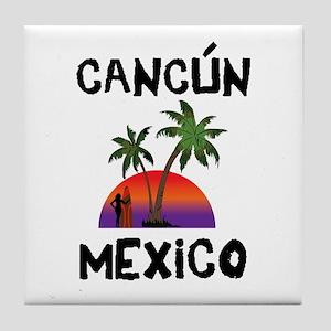 Cancun Mexico Tile Coaster