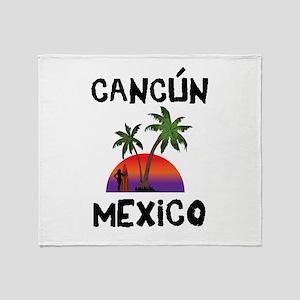 Cancun Mexico Throw Blanket