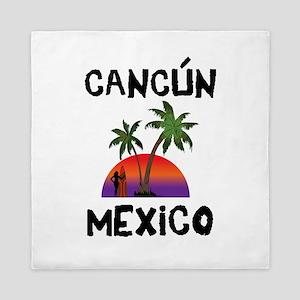 Cancun Mexico Queen Duvet