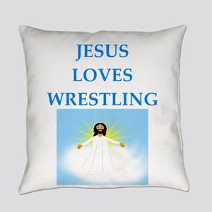 wrestling Everyday Pillow
