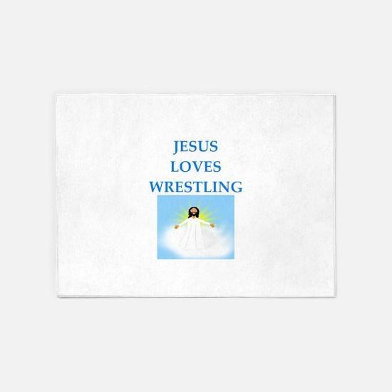 wrestling 5'x7'Area Rug