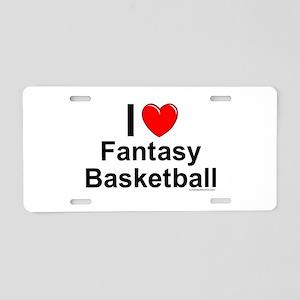 Fantasy Basketball Aluminum License Plate