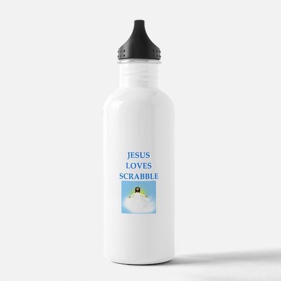 scrabble Water Bottle