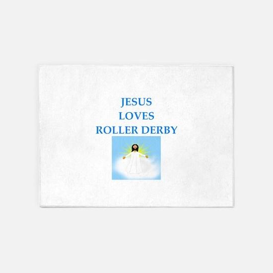 roller derby 5'x7'Area Rug