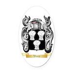 Viney Oval Car Magnet
