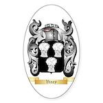 Viney Sticker (Oval 50 pk)