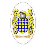 Villeneuve Sticker (Oval)