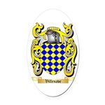 Villenave Oval Car Magnet